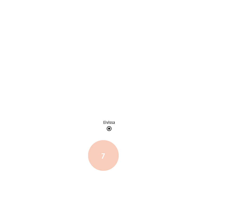 Business areas - Restaurants map in Ibiza